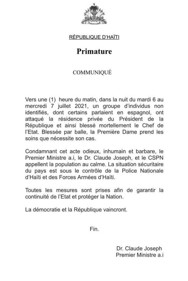 Breaking news President of Haiti Jovenel Moise is assassinated - Dominican News